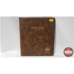 Canada Ten Cents Uni-Safe Book with 51 Coins : 1968 (3); 1969; 1970; 1971; 1973-1998; 2000-2018