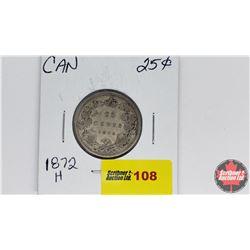 Canada Twenty Five Cent : 1872H