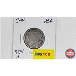 Canada Twenty Five Cent : 1874H