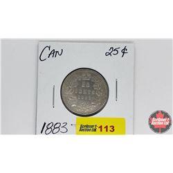 Canada Twenty Five Cent : 1883