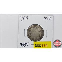 Canada Twenty Five Cent : 1885