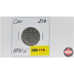 Canada Twenty Five Cent : 1890H
