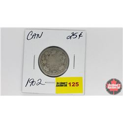 Canada Twenty Five Cent : 1902