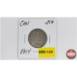 Canada Twenty Five Cent : 1904