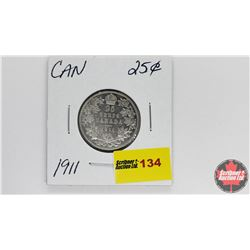 Canada Twenty Five Cent : 1911