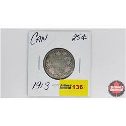 Canada Twenty Five Cent : 1913