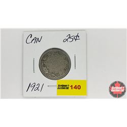 Canada Twenty Five Cent : 1921