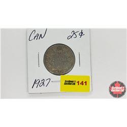 Canada Twenty Five Cent : 1927