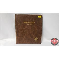 Canada Twenty Five Cents Uni-Safe Book with 59 Coins : 1964-1967; 1968(2); 1969-1991; 1992(12 Provin
