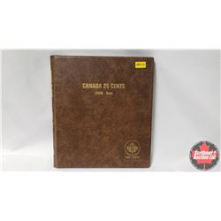 Canada Twenty Five Cents Uni-Safe Book with 84 Coins : 1992(11); 1999; 2000(16); 2001P; 2002P(2); 20