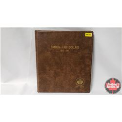 Canada Fifty Cents Uni-Safe Book with 29 Coins : 1954-1960; 1962-1976; 1978; 1978; 1979; 1980; 1985;
