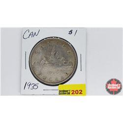 Canada Silver Dollar : 1935