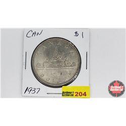 Canada Silver Dollar : 1937