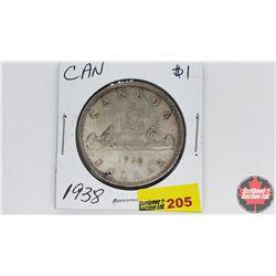 Canada Silver Dollar : 1938