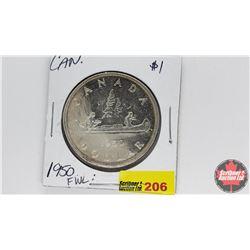 Canada Silver Dollar : 1950FWL