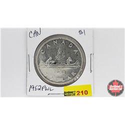 Canada Silver Dollar : 1952FWL