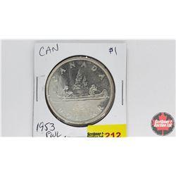 Canada Silver Dollar : 1953FWL