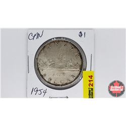 Canada Silver Dollar : 1954