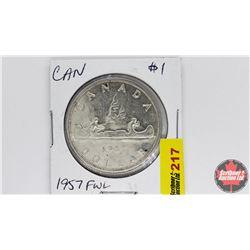 Canada Silver Dollar : 1957FWL