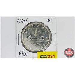 Canada Silver Dollar : 1961