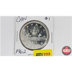 Canada Silver Dollar : 1962