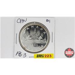 Canada Silver Dollar : 1963