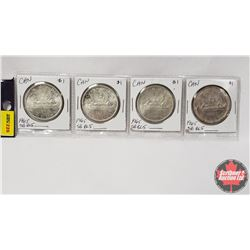 Canada Silver Dollar - Strip of 4: 1965 SB BL5