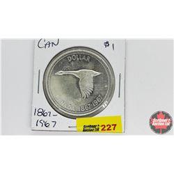 Canada Silver Dollar : Canada 1867-1967