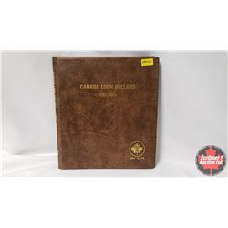 Canada One Dollar Uni-Safe Book with 37 Coins : 1987-1991; 1992(2); 1993; 1994(2); 1995(2); 1996-199