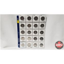 Canada Fifty Cent - Sheet of 20: 1968; 1969; 1970; 1974; 1978; 1978; 1979; 1980; 1982; 1996; 1991; 1