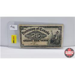"Canada Twenty Five Cent ""Shinplaster"" 1900"