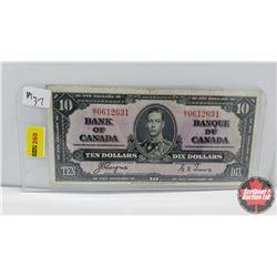 Canada $10 Bill : 1937 S/N#MT0612631 Coyne/Towers