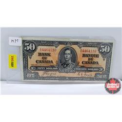 Canada $50 Bill : 1937 S/N#BH4464110 Coyne/Towers
