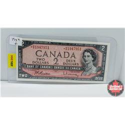 Canada $2 Bill : 1954 Replacement S/N# *BB1947951 Beattie/Rasminsky