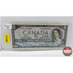 Canada $5 Bill : 1954 Replacement S/N# *SS0250276 Beattie/Rasminsky