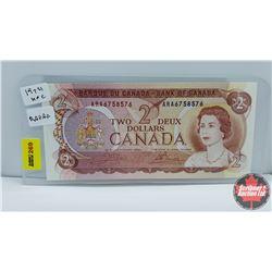 """Canada $2 Bill : 1974 """"Radar"""" S/N#ARA6758576 Crow/Bouey"""