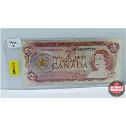 Canada $2 Bill : 1974 Replacement S/N#*RW5392290 Lawson/Bouey