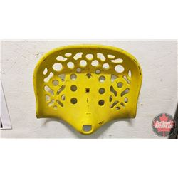Painted Yellow Cast Iron Implement Seat