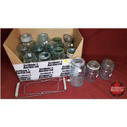 Variety Glass Jars (14) & Sealer Lifter