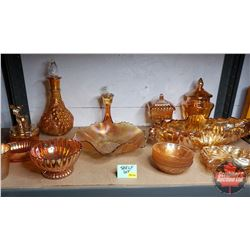 Shelf Lot : Marigold/Pearlized/Satin Glassware (16 pcs - Variety)