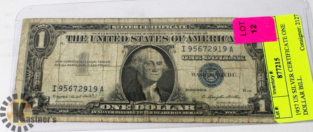 dollar 1957 bill certificate