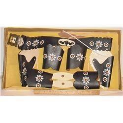 CANADA MADE Trail Ranger Western Outfil old toy MINT leather - vieux jouets FAIT CANADA encore NEUF