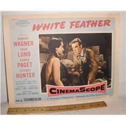 A 3rd also Very old USA Cinema Lobby Card movie Western White Feather 1955 - vieille affiche cinéma