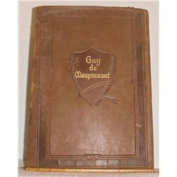 1903 Antique Leather Bound The Complete Short Stories of Guy de Maupassant Book - livre 1903