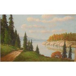 """Pass to the Lake"" by Chris - image 6 x 8 "" - ""Passe allant au lac"