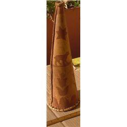 Antique Hunting bark horn decorative UNIQUE corne en écorce pour décoration pour collectionneurs