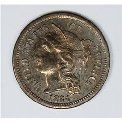 1884 THREE CENT NICKEL