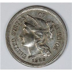 1882 THREE CENT NICKEL