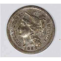 1883 THREE CENT NICKEL