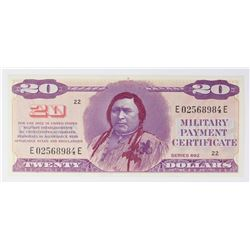 MILITARY PAYMENT CERTIFICATE SERIES 692 $20.00
